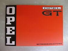 Opel GT - Betriebsanleitung (Original-Opel) NEU