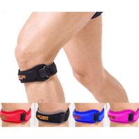 Adjustable sport gym patella tendon knee support brace strap band wrap protectIH