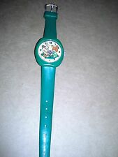 Vintage 1978 Green Plastic Picco Pebbles & Bam Bam Wind Up Watch 7 Jewels