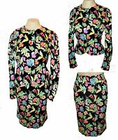 2-PC Suit Skirt Blazer-Top, Adrianna Papell, 100% Silk, Floral Jacquard  6