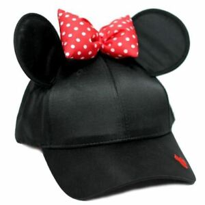Minnie Mouse Baseball Cap with Ears and Bow