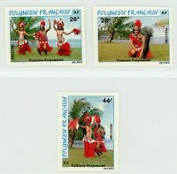 French Polynesia 1981 Folk Dancing Imperforate Set MNH X645