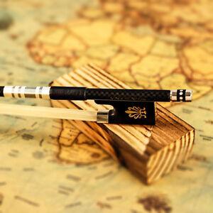 VingoBow Textured Carbon Fiber Violin Bow Pernambuco Performance Pro. Level 116V