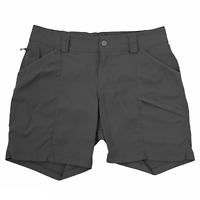 """Duluth Trading Dry on the Fly 7"""" Shorts Gray Nylon Blend Women's Size 10  SS-122"""