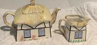 Vintage Cottage Teapot and Creamer Set Made in England