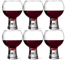 6 x Durobor ALTERNATO Cocktail GLASSES Wine GIN Glass BUBBLE STEM 540ml Goblets