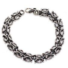 """Silver Plated Bracelet 9"""" Gw H93619 Vintage Pattern 925 Sterling"""