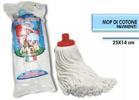 ds Mop Cotone Bianco Super Candido Ricambio Mocio Lava Pavimenti Universale dfh