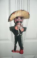 "Vintage PANCHO VILLA Mexican Bandit Stringed Marionette  16"""