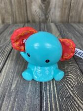 Fisher Price Wobble Blue Elephant With Crinkle Ears Baby Toy 3.5""