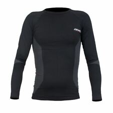 ARMR Moto Thermal Motorcycle Base Layer Motorbike Under Top Sports Shirt Black S/m