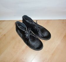 Schuh Womens Black Leather Desert BOOTS - Various Sizes UK 4