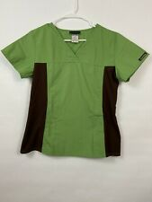 Cherokee Scrubs 2 Pieces Top Size Small And Xxs Green And Gray.