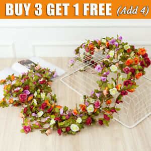 45 flowers 8Ft Artificial Silk Rose Flower Hanging Garland Wedding Garden Decor