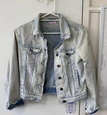 *AWAY19NOV-6DEC* Distressed Look Denim Jacket Small Or 8 Jeans