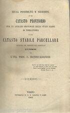 GIURIDICA_CATASTO SARDO_INGEGNERIA_TOPOGRAFIA_PIEMONTE_MANDOJ ALBANESE_1860