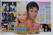 Sylvester Stallone Brigitte Nielsen Red Sonja Rocky clippings cuttings Sweden