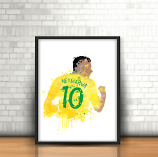 Neymar Jr - Brazil Legend Football Art Print Brazilian Number 10 PSG Player