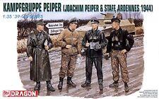 Dragon 1/35 6088 WWII German Kampfgruppe Peiper (Joachim Peiper & Staff)(4 Figs)