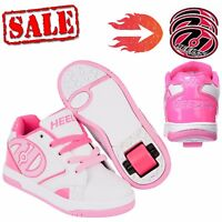 Heelys Propel 2.0 Girls Trainers Hot Pink White Roller Skates Shoes 2017
