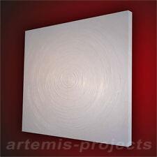 T.KRIZIA/ 80cm x 80cm x 4cm, STRUKTUR, 3D KEILRAHMEN, PURE WHITE, XXL, ORIGINAL!