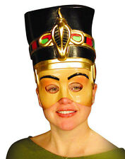 Nefertiti Ancient Egyptian Queen Cleopatra Semi Rigid Plastic Half Face Mask