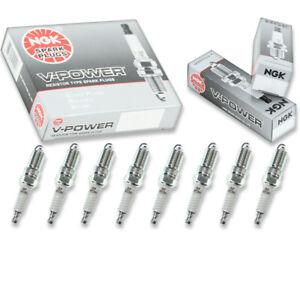 8 pcs NGK V-Power Spark Plugs for 2003-2014 Cadillac Escalade ESV 6.0L 6.2L lx