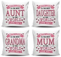 With Love To The Best Relative In The World Sequin Reveal Cushion Variation