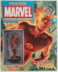 Eaglemoss Marvel Human Torch #18 Lead Figure with Magazine