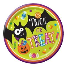 "Gone Batty 8 Ct 9"" Dinner Lunch Plates Halloween Party Pumpkin Candy"