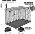 48/42/36/30/24  Heavy Duty Pet Kennel Cat Dog Folding Crate Wire Metal Cage