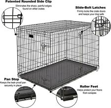 """48""""/42""""/36""""/30""""/24� Heavy Duty Pet Kennel Cat Dog Folding Crate Wire Metal Cage"""