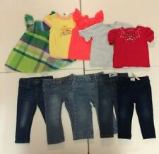 LOT of Girls Clothes-Short Sleeve Tops, Jeans and Sun Dress (Size 18 Months)