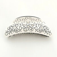 Hair Accessory STS10602 Black and White Hair Jaw Claw Clip