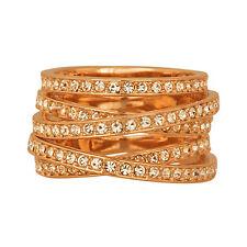 Swarovski Rose Gold-Plated Spiral Ring 5063923