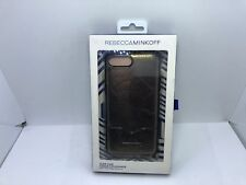 Rebecca Minkoff Slide Case for Apple iPhone 7 Plus Cracked Leather Anthracite