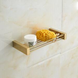Bathroom Accessories Storage Shelf Rack Holder Kitchen Caddies Wall Mount Hanger