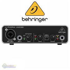 Behringer U-Phoria UMC 22 Audiophile 2x2 USB Audio Interface