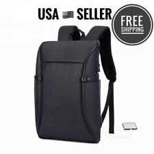 NEW Notebook Backpack Black Waterproof Unisex Laptop Backpack Business with USB