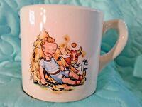 Vintage Advertising Little Boy Blue Childs Mug Cup Lewis Furniture Company W. Va