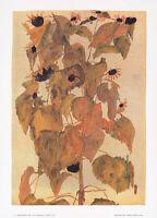 Egon Schiele Sonnenblumen Poster Kunstdruck Bild 50x36cm