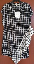 Diane Von Furstenberg Sky Check Black  Ivory Dress P Retail  $368.00