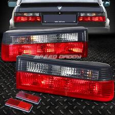 FOR 1984-1990 BMW 3-SERIES E30 RED HOUSING SMOKED TAIL LIGHT BRAKE REVERSE LAMP