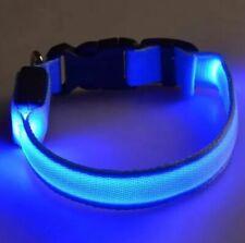 "Dog Collar Light Up Nylon Collar 15"" - 24"" Adjustable Collar New With Tags"