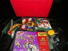 K'NEX BUILDING SET WITH CASE #12030-V1-9/01, MAKES 20 MODELS, AGES 6-12 COMPLETE