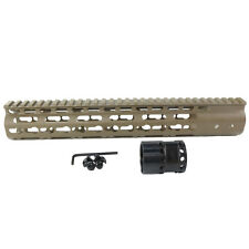 "12"" Keymod Handguard Free Float Slim Quad Rail Mounting System Picatinny Tan"