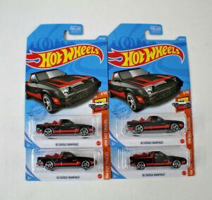 Lot Of 4 Hot Wheels 2021 '82 Dodge Rampage Hot Wheels Trucks