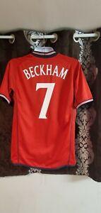 England soccer jersey away Beckham 7 season 2002 size L free shipping