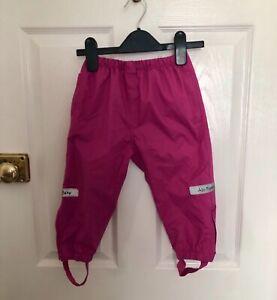 Girls JOJO MAMAN BEBE waterproof trousers age 12/18 months