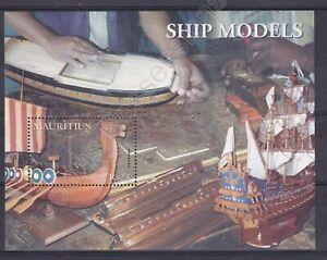 MAURITIUS MNH STAMP SHEET 2005 MODEL SHIPS SG MS1139